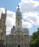 Philadelphia, City Hall. A shot of the famous City Hall Building in Philadelphia, PA featuring the statue of William Penn atop the tower stock images