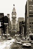 Philadelphia City Hall. Broad street and Philadelphia City Hall in Center City royalty free stock photography