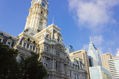 Philadelphia City Hall & Centre City skyline Stock Image