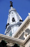 Philadelphia City Hall Clock Tower Royalty Free Stock Images