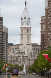 Philadelphia City Hall Clock Tower Stock Photography