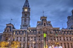 Philadelphia City Hall in the early morning Stock Image