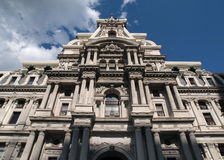 Philadelphia City Hall and Storm Cloud. Philadelphia city hall with growing storm clouds Royalty Free Stock Photos