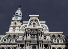 Philadelphia City Hall Thunderstorm Stock Photos