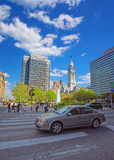 Philadelphia City Hall with William Penn sculpture atop the Towe Stock Photo