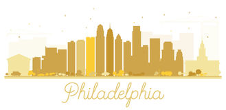 Philadelphia City skyline golden silhouette. Royalty Free Stock Image
