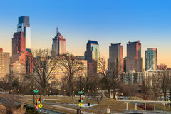 Philadelphia city skyline Stock Photo