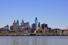 Philadelphia Cityscape. At Penn's Landing Royalty Free Stock Photos