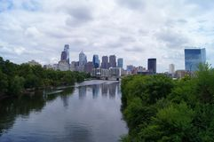 Philadelphia. Philadelphia cityscape over the Schuylkill river Royalty Free Stock Images
