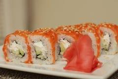 Philadelphia classic.Japanese sushi. Royalty Free Stock Photography