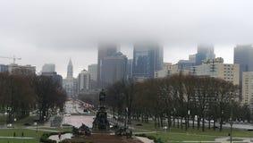 Philadelphia de niebla fotografía de archivo libre de regalías