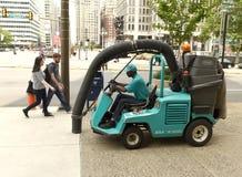 Philadelphia, de V.S. - 29 Mei, 2018: De machine van de straat Stofzuiger royalty-vrije stock afbeeldingen