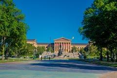PHILADELPHIA, DE V.S. - 22 NOVEMBER, 2016: Het Museum van Philadelphia Pennsylvania van Art East-ingang en het Noordenvleugel Stock Foto