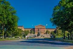 PHILADELPHIA, DE V.S. - 22 NOVEMBER, 2016: Het Museum van Philadelphia Pennsylvania van Art East-ingang en het Noordenvleugel Royalty-vrije Stock Foto's