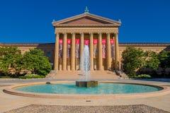 PHILADELPHIA, DE V.S. - 22 NOVEMBER, 2016: Het Museum van Philadelphia Pennsylvania van Art East-ingang en het Noordenvleugel Royalty-vrije Stock Foto
