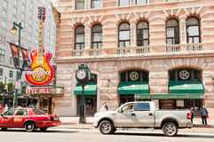 Philadelphia downtown Hard Rock cafe Royalty Free Stock Image