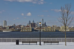 Philadelphia downtown at wintertime Stock Photo