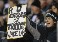 Philadelphia Eagle fans Stock Photos