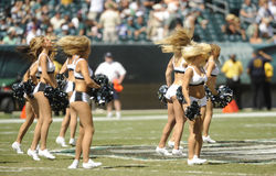 Philadelphia Eagles cheerleaders Stock Photo