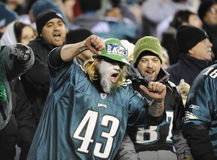 Philadelphia Eagles fans Stock Photos