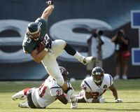 Philadelphia Eagles Jeff Thomason Fotos de archivo