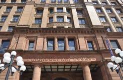 Philadelphia, el 4 de agosto: Fachada de la alameda de la bolsa del edificio histórico de Philadelphia en Pennsylvania Imágenes de archivo libres de regalías