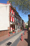 Philadelphia. Elfreth's Alley, the oldest street in the USA ,located in Philadelphia centre city Stock Photos