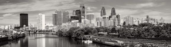 Philadelphia en blanco y negro Foto de archivo libre de regalías