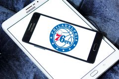 Philadelphia 76ers amerikansk basketlaglogo Royaltyfri Fotografi