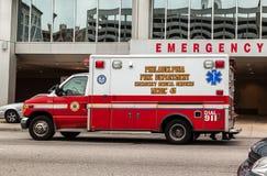 Philadelphia Fire Department Van stock photos