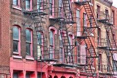 Philadelphia fire escapes stock photos