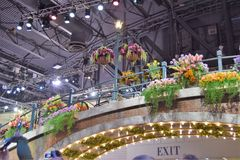 Philadelphia Flower Show 2017. The Philadelphia Flower Show March 11th 2017 Opening Day. The theme is Holland Royalty Free Stock Image