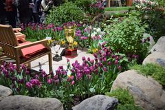 Philadelphia Flower Show 2017. The Philadelphia Flower Show March 11th 2017 Opening Day. The theme is Holland Stock Image