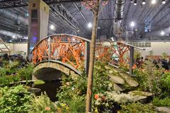 Philadelphia Flower Show 2017. The Philadelphia Flower Show March 11th 2017 Opening Day. The theme is Holland Royalty Free Stock Photos