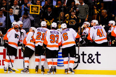 Philadelphia Flyers bench Royalty Free Stock Photo