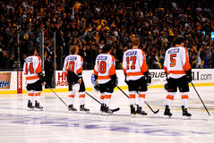 Philadelphia Flyers Starting Line-up Stock Photo