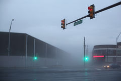 Philadelphia in fog. Deep fog on the streets of Philadelphia, PA Stock Photos