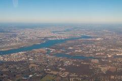 Philadelphia från luften arkivbild