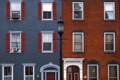 Philadelphia-Häuser Lizenzfreie Stockfotografie