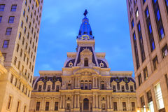 Philadelphia historic City Hall building at twilight Stock Photos