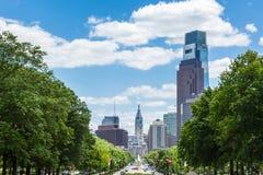 Philadelphia horisont - Pennsylvania - USA Arkivbilder