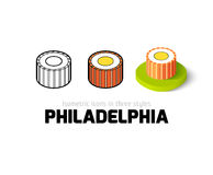 Philadelphia icon in different style Stock Photos