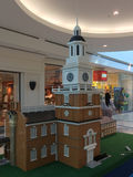 Philadelphia Indepedence Hall byggande med Lego Arkivbilder
