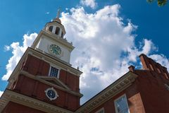 Philadelphia Independence Hall Liberty Bell Tower Royalty Free Stock Image