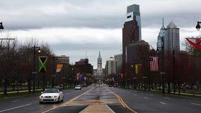 Philadelphia looking toward the city center stock video