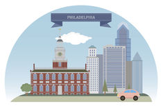Philadelphia, los E.E.U.U. stock de ilustración