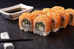 Philadelphia maki sushi Royalty Free Stock Images