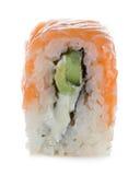 Philadelphia maki sushi isolated on a white Royalty Free Stock Images