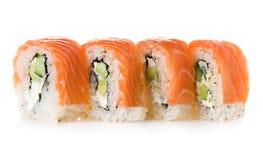 Philadelphia maki sushi isolated on a white Royalty Free Stock Photography