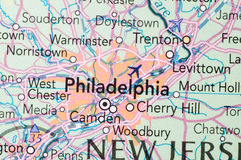 Philadelphia,on the map Royalty Free Stock Images